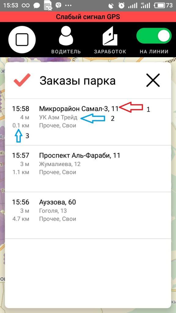 Заказы Яндекс Такси